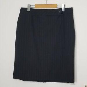 Anne Klein | Pin Striped Wool Blend Skirt Size 14